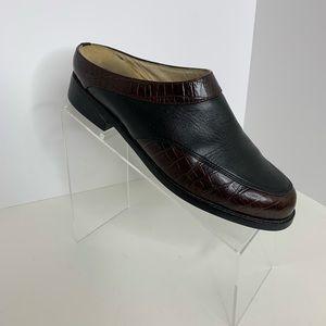 ARIAT WOMEN'S 9.5B Mule Dual Leather Croc Print